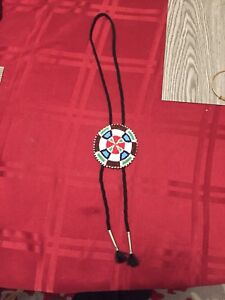 Native hand beaded necklace