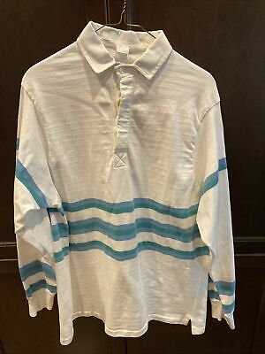 80s Tops, Shirts, T-shirts, Blouse   90s T-shirts Vintage Mens 100% Cotton Rugby Shirt - 1980s - Size L/XL $14.99 AT vintagedancer.com