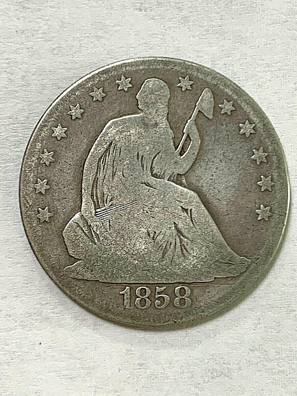 1858-O Liberty Seated Half Dollar  - $49.99
