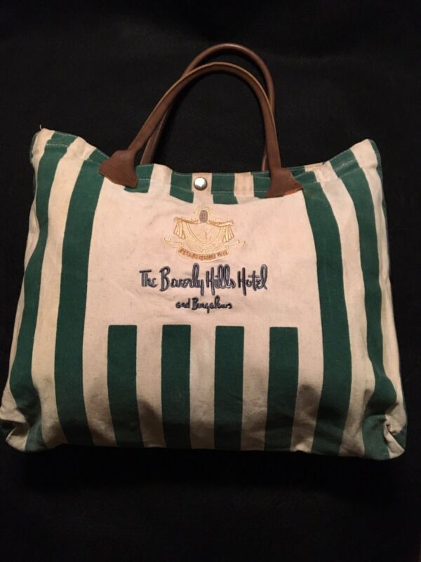 Beverly Hills Hotel and Bungalows Vintage Tote Bag