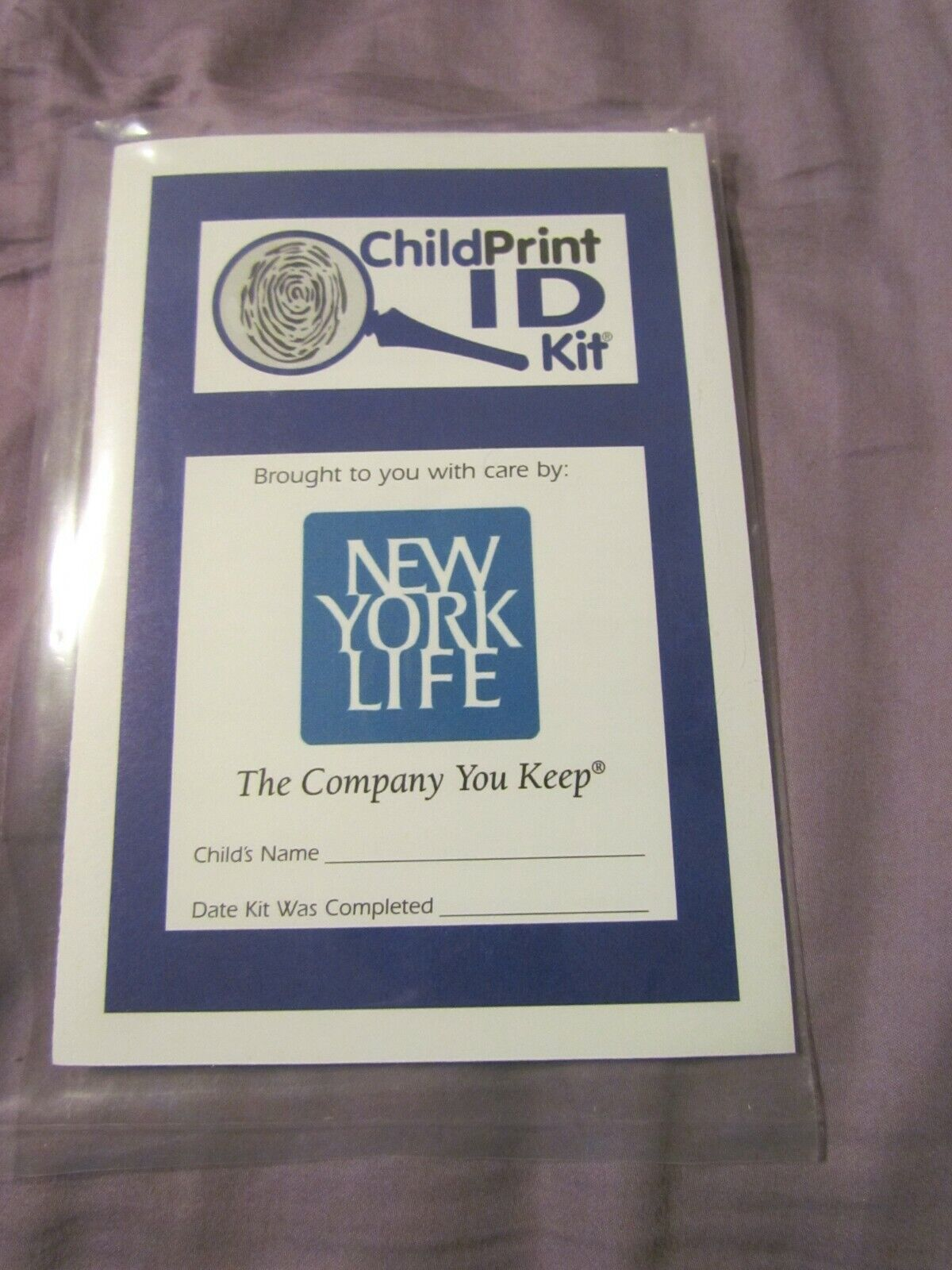 CHILDPRINT I.D. KIT A MUST-HAVE FOR THE SECURITY OF YOUR CHILD REN 911  - $0.99