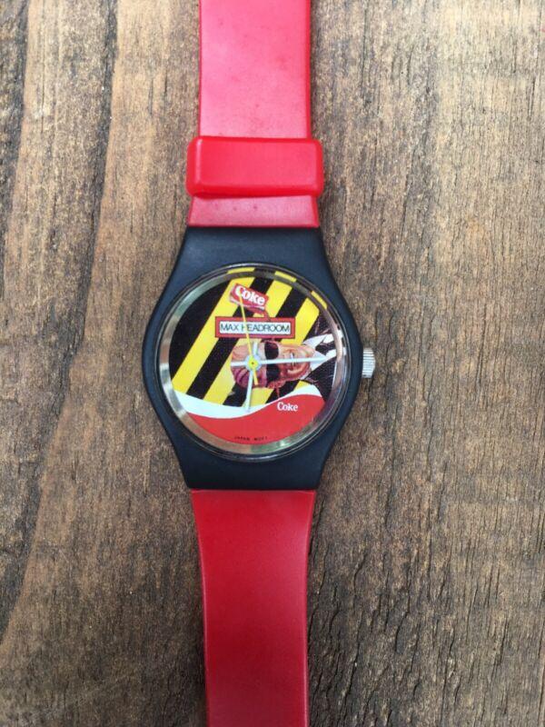 Coca-Cola Maxheadroom Watch Red (prop Watch). Circa 1980s.