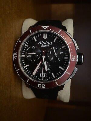 Alpina Seastrong Diver 300 Quartz Black Dial Men's Watch AL-372LBBRG4V6