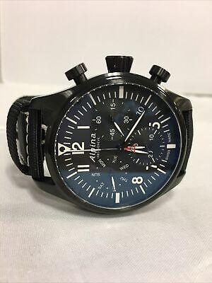 ALPINA Startimer Pilot Chronograph Black Men's Watch - AL-371BB4FBS6  MSRP: $895