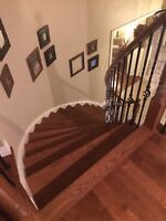Stairs Recapping / Refinishing/Spindles/Flooring