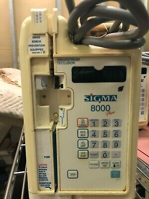 Reduced Price Sigma 8000 Plus Pump Iv Infusion