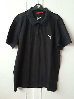 PUMA  Black Polo Shirt Top Mens Size L