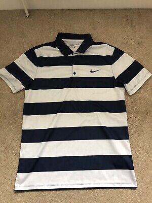 Small Nike Golf Polo Navy White Stripe