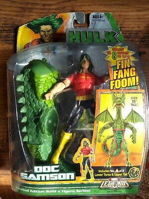 Marvel Legends Doc Samson Fin Fang Foom BAF Action Figure Hulk complete