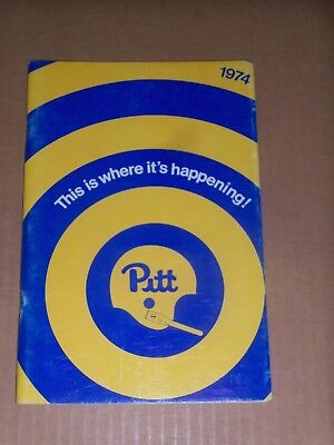 1974 Pitt Panthers  Football Media Guide  Johnny Majors Second Year  Complete