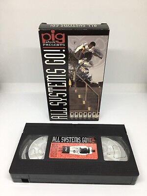 Pig Wheels Skate Video 'All Systems Go!' VHS NTSC Creager Staba Channita Steamer
