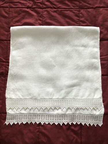 Lovely Antique Linen Hand Towel #6