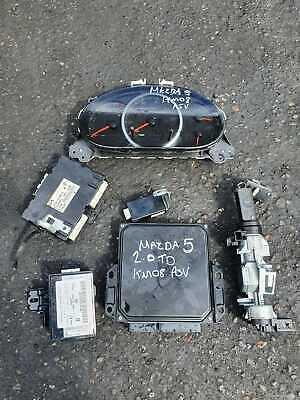 Mazda 5 Sport D MK1 2.0 Diesel Ignition barrel key transponder engine ecu kit