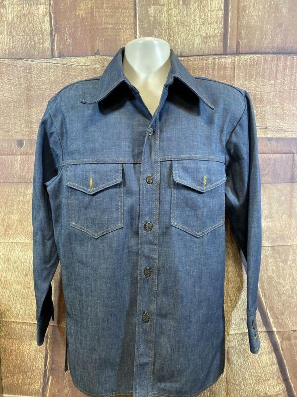 Vintage Bar C Authentic Western Denim Jacket Heavy Shirt Men's Size L