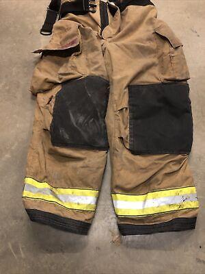 42x30 Globe Firefighter Pants With Suspenders Turnout Bunker Fire Gear 2009 Mint