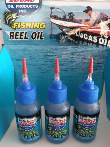 3-LUCAS FISHING REEL OIL #10690  (3) X 1 OZ. BOTTLE FRESH & SALT WATER  MADE USA