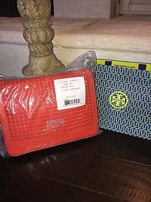 NWT TORY BURCH ERICA SHOULDER BAG POPPY RED-$465 & GIFT BAG-12149872