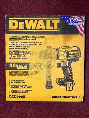 Dewalt Dcd996 B Max Xr 20v Li-ion 12 Cordless Hammer Drill Tool Only Brand New