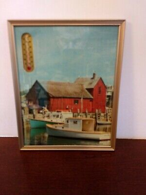Vintage Advertising Thermometer Sign Rockport Harbor