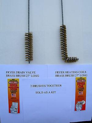 2- 27 Heavy Brass Brush Kit-cleans Broaster Pressure Fryerpitco Or Frymaster