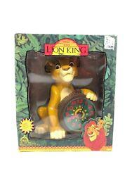 1994 Disney Lion King Deluxe Musical Alarm Clock Simba Circle of Life Fantasma
