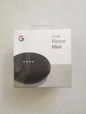 New Google Home Mini Digital Media Streamer - Charcoal, Black GA00216-US