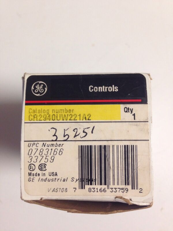 General Electric CR2940UW221A2 Button controls new in box