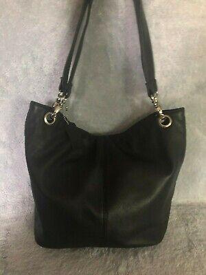 Black Leather Womens Tote (Worthington Black Leather Women's Tote Handbag  )