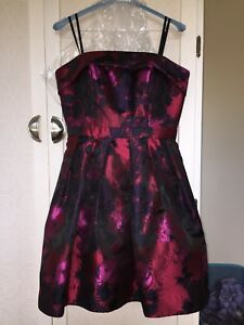 Strapless (black red pink) Floral Womens Dress