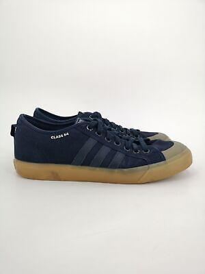 adidas Mens Nizza Shoes UK Size 11 Blue Trainers