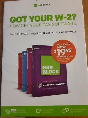 15 00 Discount Coupon Cd   H R Block 2017 Tax Software   Federal Deluxe   State