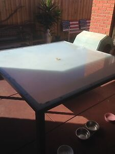 Outdoor Frosted Square Glass Table Lynbrook Casey Area Preview