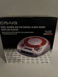 Craig Dual Alarm FM/AM Digital Clock Radio With CD Player