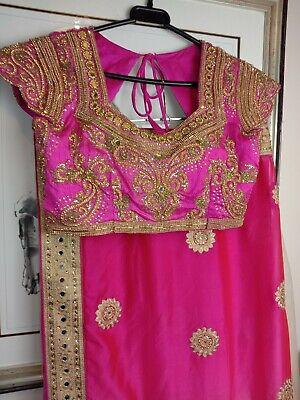 Saree- Bollywood Fashion Wedding Party Wear Heavy Designer Sari Indian Asian