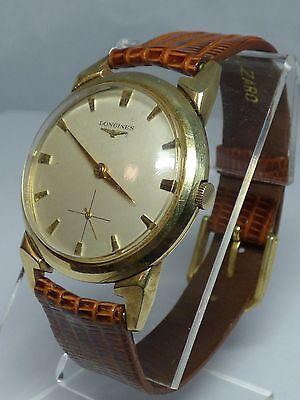 Rare vintage Longines Wind-Up Watch, Original Dial 10K Gold Filled Case