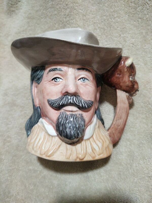 """ROYAL DOULTON """" THE WILD WEST COLLECTION """" BUFFALO BILL LARGE TOBY MUG 1984"""
