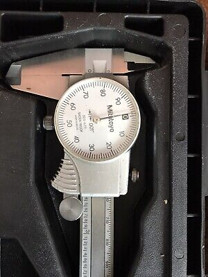 Mitutoyo 505-675 6 Dial Caliper .001 Grad With Hard Case-shockproof
