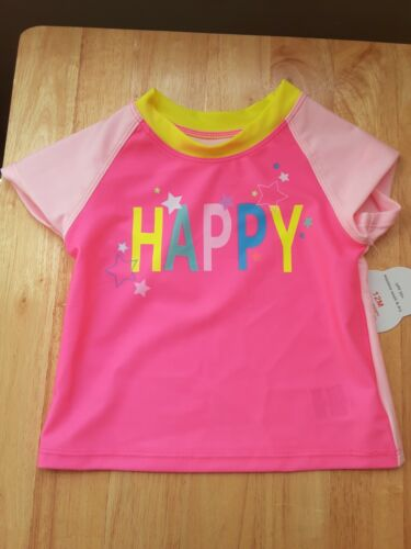 Wonder Nation Girls Rash Guard Shirt Size 12 Months   NEW WITH TAGS