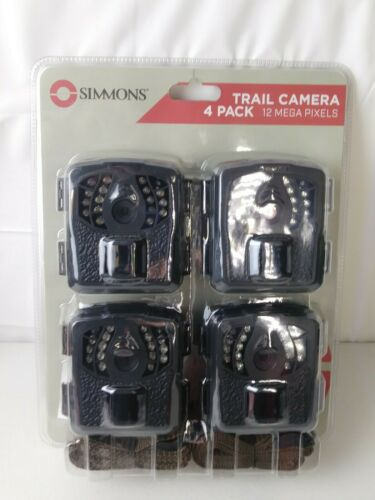 4-Pack of Simmons 119504TSC Trail Cameras 12 MP NEW FACTORY