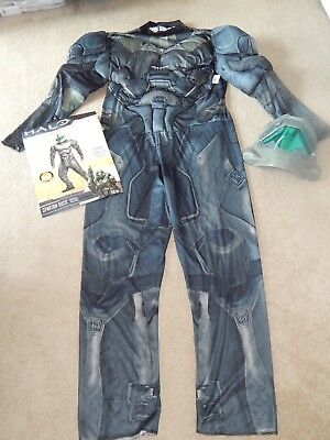 NEW Halo Spartan Buck Action Figure Halloween Costume Mask Muscles Mens XL 40-42