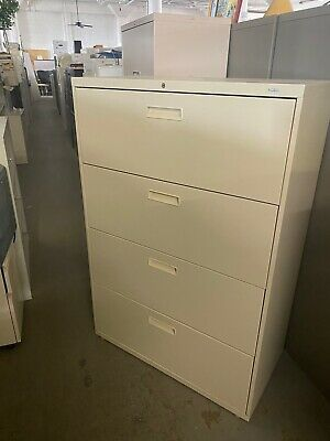 4 Drawer Lateral Size File Cabinet By Hon Office Furniture Model D584l