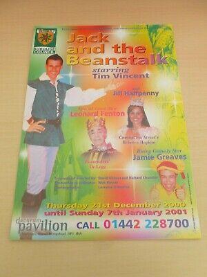 Tim Vincent Jill Halfpenny Leonard Fenton Hemel Hempstead Pantomime Flyer 2000