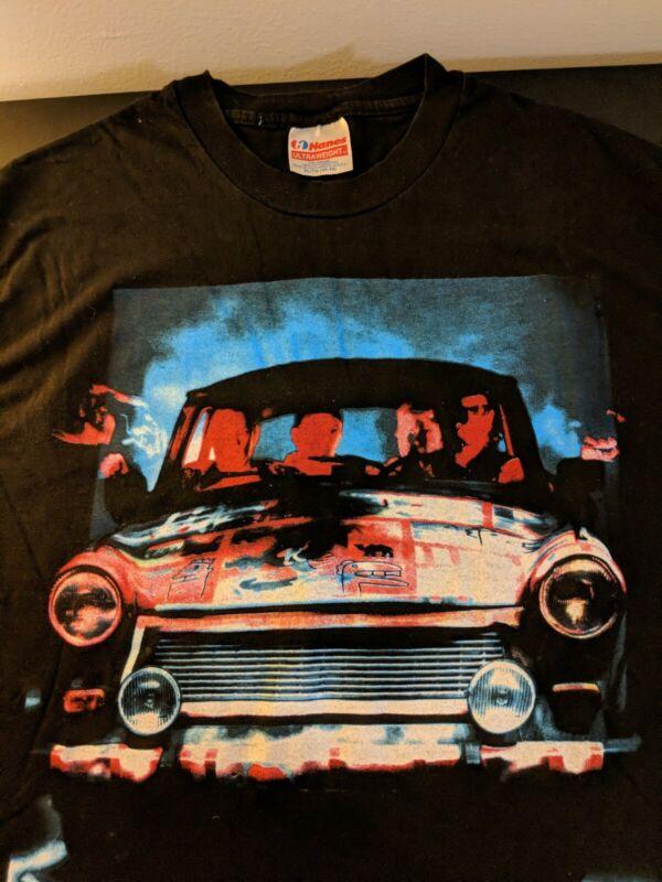 U2 Tour XL T-Shirt Vintage 1992 Zoo TV Black w/Graphics. Propaganda issued. NM.