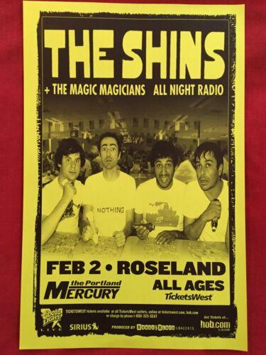 THE SHINS Original Concert Poster Gig Flyer Portland Mike King