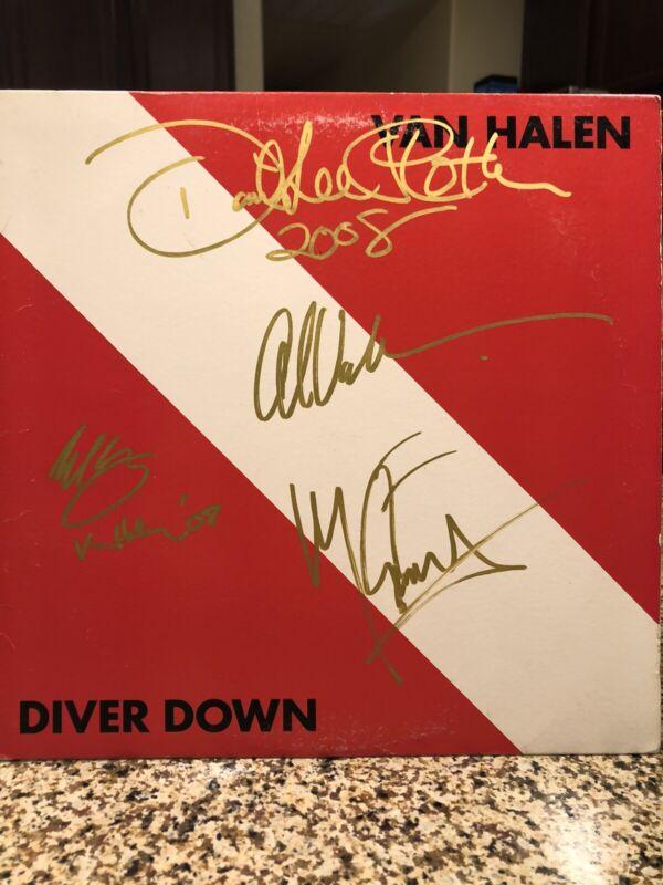 Van Halen LP Originally Autographed By Roth Eddie Alex Michael