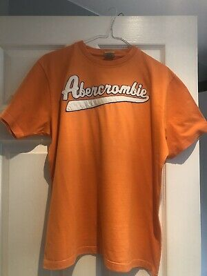 abercrombie and fitch mens Orange t shirt large