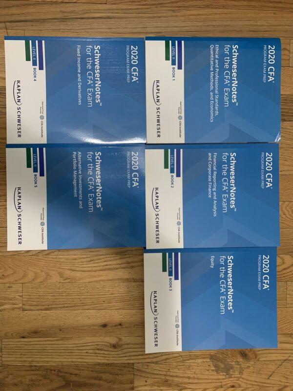 NEW 2020 Kaplan Schweser CFA Level II - All Books and Practice Exams
