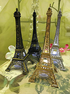 Eiffel Tower Paris  Metal Stand Model Table Decor w/Extra LED waterproof - Eiffel Tower Decorations
