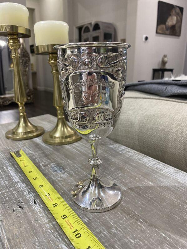 John Coiner Renaissance Festival 2001 Wine Chalice Goblet Heavy Well Made! Rare