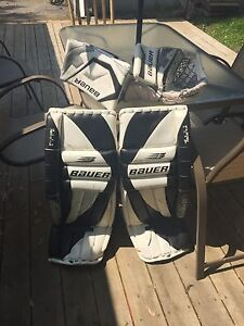 Bauer supreme goalie pads and skates